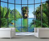 Thailand Window View Wall Mural Mural de papel pintado