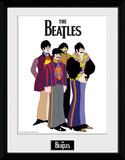 The Beatles- Yellow Submarine Varicatures Reproduction encadrée pour collectionneurs