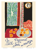 Nice, France - Travail et Joie (Work and Joy) - Still Life with Pomegranates Poster von Henri Matisse