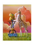 Robots On Safari Posters by Cindy Thornton