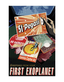 First Exoplanet Arte di  Vintage Reproduction