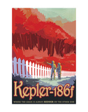 Kepler-186f Plakater av  Vintage Reproduction