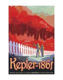 Kepler-186f Poster di  Vintage Reproduction