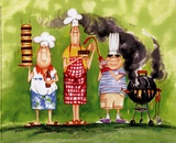 BBQ Chefs II Posters av Tracy Flickinger