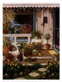 Spring Front Porch Kunstdrucke von Janet Kruskamp