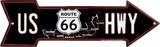 Route 66 Map Arrow Blikskilt