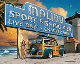 Malibu Woodie Tin Sign