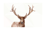 Abstract Polygonal Deer Poster von  mbolina