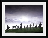 Lord Of The Rings- March Of The Fellowship Reproduction encadrée pour collectionneurs