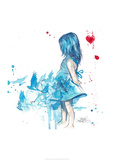 Blue Girl Art by Lora Zombie