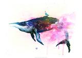 Fish and Bird Poster von Lora Zombie