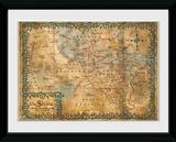 The Hobbit- Map Of The Shire Reproduction encadrée pour collectionneurs