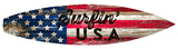Surfin Usa Surfboard Plaque Wood Sign
