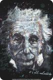Einstein - All Relative Blechschild