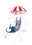 Parachute Cat Posters af Lora Zombie