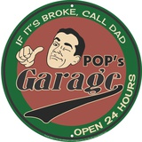 Pop's Garage Placa de lata