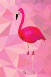 Pink Flamingo Bird Triangle Vector Poster Kunstdrucke von  Moetz