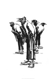 Band of crows Posters par Lora Zombie