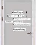 Hashtag Dry Erase Wall Art Kit Adesivo de parede