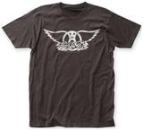 Aerosmith- Distressed White Wings Tshirt