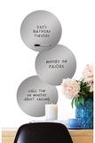 Silver 3 Dots Dry Erase Wall Decal Adesivo de parede