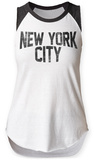 Womens: New York City Raglan Tank Ermeløse toppen for damer