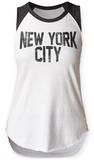 Womens: New York City Raglan Tank Canotta da donna