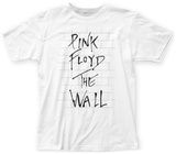 Pink Floyd- The Wall Thin Script T-skjorter