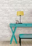 White Brick Peel & Stick Wallpaper Avtagbar tapet