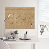 Faux Hardwood Dry Erase Calendar Adesivo de parede