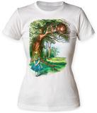 Women's: Alice In Wonderland- Cheshire Cat Rendezvous Skjorter