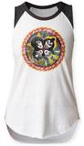 Womens: Kiss- Rock And Roll Over & Over Raglan Tank Damen-Trägerhemden