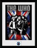 The Who- Distressed Union Jack Reproduction encadrée pour collectionneurs