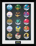 Pokemon- Pokeballs Stampa del collezionista