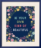 Floral Quote IV Indigo Posters by Lamai McCartan