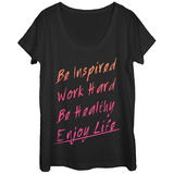 Womens: Be Inspired Scoop Neck Vêtement