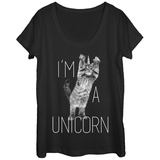 Womens: Kitten-Corn Scoop Neck Camisetas