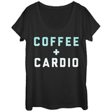 Womens: Coffee Cardio Scoop Neck Vêtements