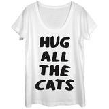 Womens: Cat Hugger Scoop Neck Magliette