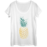 Womens: Distressed Pineapple Scoop Neck T-Shirts