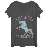 Womens: Glitter For Breakfast Scoop Neck Vêtements