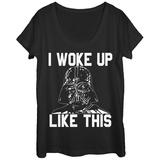 Womens: Star Wars- Woke Up Like Vader Scoop Neck Shirts