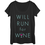 Womens: Vino Run Scoop Neck T-skjorte