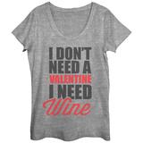 Womens: Wine Not Valentine Scoop Neck Magliette