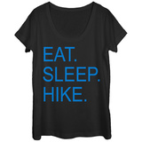 Womens: Eat Sleep Hike Scoop Neck Vêtements