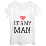 Womens: He's My Man Scoop Neck Vêtement