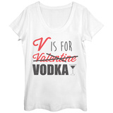 Womens: V For Vodka Scoop Neck Vêtement