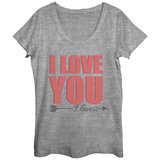 Womens: Love You I Guess Scoop Neck Vêtements