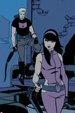 All-New Hawkeye No.3 Panel, Featuring Hawkeye and Kate Bishop Poster di Ramon Perez