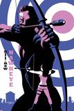 All-New Hawkeye No.4 Cover, Featuring Hawkeye and Kate Bishop Targa di plastica di Michael Cho